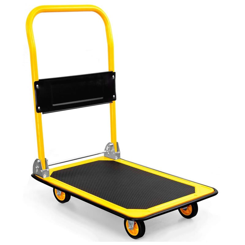 Steel Portable Folding Platform Truck Foldable 330lbs Capacity